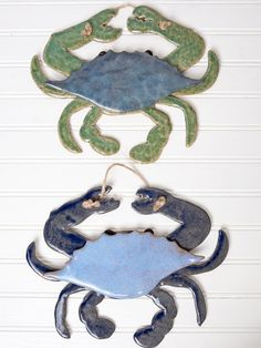 Ocean Crab Wall Hanging | Bees and Buttercups Handmade Gift Shop / Panama City Florida