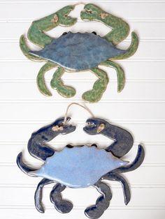 Ocean Crab Wall Hanging | Bees and Buttercups Handmade Gift Shop / Panama City Florida