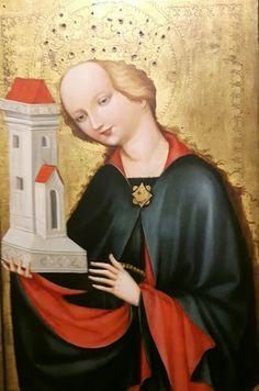 Maestro della Madonna di Vyssy Brod. Santa Barbara. 1400-1410