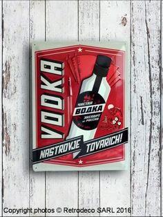 Plaque décorative bombée Vodka, déco bistrot Nostalgic Art, Decoration, Vodka, Canning, Decorative Plates, Home Decoration, Decor, Decorations, Decorating