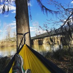 Afternoon nap by the canal listening to Goblet of Fire #hammocklife #eno #harrypotter by @kristinichols6