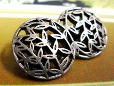 Leaf Vines Metal Buttons , Nickel Silver Color , Openwork , Shank , 0.79 inch , 10 pcs by Lyanwood, $6.00