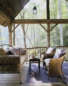 North Carolina cabin decorated by Charleston designer, Amelia Handegan.