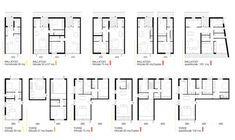 Social Housing in Milan / StudioWOK,types of apartments