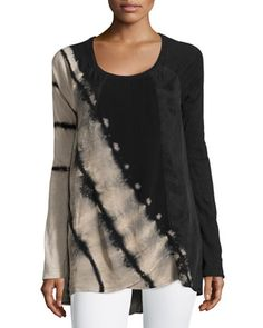 Winslet High-Low Tunic, Desert/Black by XCVI at Neiman Marcus Last Call.