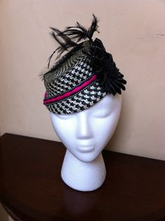 My Checkered Past Hats Short Hair, 1930s Hats, Millinery Hats, Love Hat, Pill Boxes, Fabric Covered, Grosgrain Ribbon, Hats For Women, Hair Pins