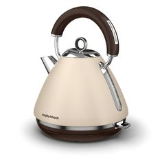 The Sand Accents pyramid kettle is a limited special edition colour to celebrate our 80th anniversary. Add subtle cream tones to your kitchen through premium appliances from Morphy Richards Traditional Kettles, Small Appliances, Kitchen Appliances, Retro, Color, Debenhams, Delicate, Blues, Electric Kettles