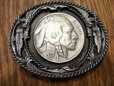 Buffalo Nickel Indian Belt Buckle