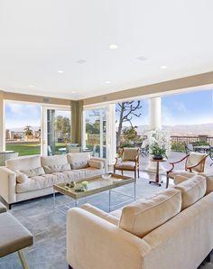 Luxury Living Room with Contemporary Design and Furniture. Los Angeles, California Home | Mansion Estate | Katy Lee Estate Sales | klestatesales.com
