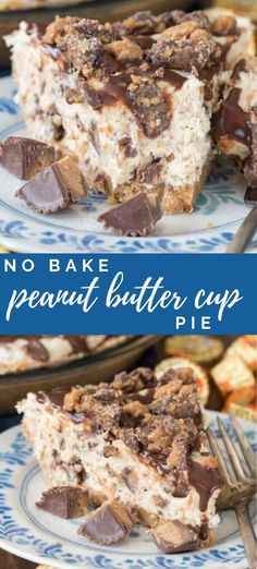 No Bake Peanut Butter Cup Pie - - No Bake Peanut Butter Cup Pie !Crazy for Crust Recipes! No Bake Peanut Butter Cup Pie – this easy no bake peanut butter cheesecake is full of peanut butter cups with a NUTTER BUTTER pie crust! Nutter Butter, Peanut Butter Cups, Peanut Butter Cup Cheesecake, Peanut Butter Recipes, Desserts With Peanut Butter, Peanut Butter Lasagna, Cookie Butter, Lemon Desserts, Köstliche Desserts