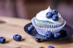 BLUEBERRY Cream Cheese Cupcakes - these dainty cakes ended up with swirls of blue in the batter. #cupcakerecipe #baking http://thecupcakedailyblog.com/blueberry-cream-cheese-cupcake/