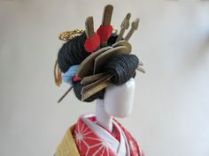 JAPANESE  made in Japan, created by a washi paper craft master Oiran  Chiyogami in Collectibles, Cultures & Ethnicities, Asian, 1900-Now, Japanese, Dolls | eBay