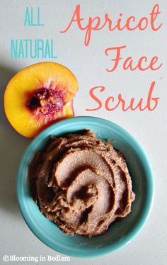 All Natural Apricot Face Scrub. A two ingredient all natural alternative to the popular face scrub, but with no harsh chemicals, perfumes or irritating dyes. Plus it's cheaper to make than buy!