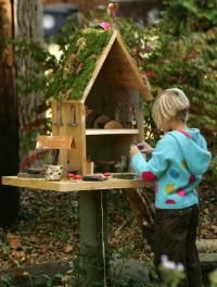 outdoor fairy house