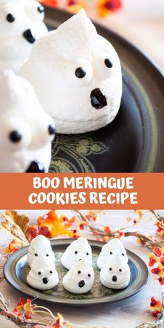 BOO meringue cookies are shaped like ghosts to make a fun treat this Halloween! Celebrate the day with these spooktacular treats sure to delight kids and adults alike. If you are into Halloween treats then this is the perfect dessert for you! They will for sure have your entire family running to the kitchen! #halloween #ad #HalloweenTreatsWeek