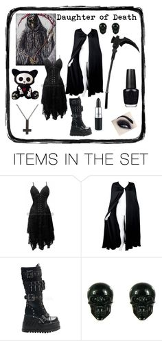 """""""Daughter of Death"""" by jeff-the-killer-cp ❤ liked on Polyvore featuring art"""