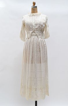 Through the Leaves Dress / antique 1900s Edwardian dress / Edwardian dress