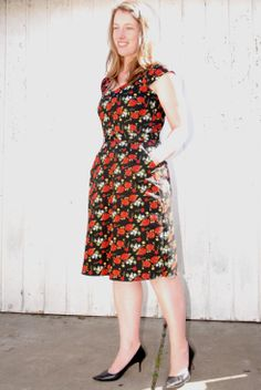 Sewaholic cambie dress in floral sateen