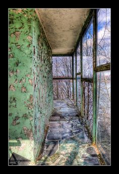 On the Port Tower  Top floor of the Pripyat port tower, near Chernobyl.  For the story behind the picture: Read the Chernobyl Journal on timmsuess.com