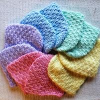 Newborn caps - crocheted. donate a few of these to your local hospitals as a gift for newborns.