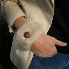 Luxurious Mink Fur Bracelet Cuff - Winter Fashion for Her (Vintage Repurposed Fur). $30.00, via Etsy.