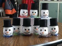 Snowmen Votive Craft (Class Gift to Parents) - Family Fun
