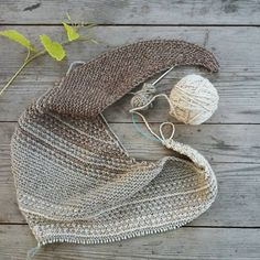 Melanie Berg's Linook Shawl knit by @kasia_and in Quince & Co. Owl.