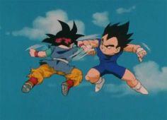 Goku_JR._vs_Vegeta_JR. - dragon-ball-z Photo