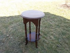 Round Side Table at Ancient of Daze by ancientofdaze on Etsy, $109.00