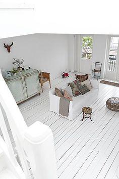 white plank floors