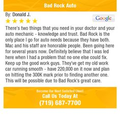 There's two things that you need in your doctor and your auto mechanic - knowledge and...