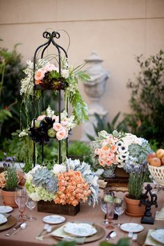 love the colors in this garden party