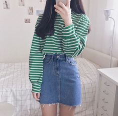 Look at this Awesome korean fashion trends Korean Girl Fashion, Korean Street Fashion, Ulzzang Fashion, Korea Fashion, Cute Fashion, Asian Fashion, Look Fashion, Fashion Design, Cute Casual Outfits
