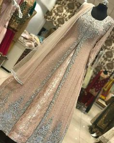 Pakistani bridal dress/ partywear Beautiful bridal/ partywear dress can me made into any color or design. Custom orders only. Comes with a full inner banasari silk maxi and out chiffon embroidery maxi cost and net duppta. Indian Gowns Dresses, Pakistani Bridal Dresses, Pakistani Dress Design, Bridal Lehenga, Walima Dress, Bridal Anarkali Suits, Pakistani Fashion Party Wear, Indian Party Wear, Abaya Fashion