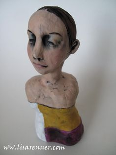 Polymer Clay art doll by Lisa Renner