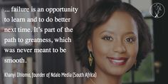 Khanyi Dhlomo is the Managing Director of Ndalo Media, which she founded in 2007. She is also the founder of DestinyConnect and the founding editor of Destiny Magazine. Before starting her own media company, Khanyi was editor of True Love magazine for eight years. She was named most influential woman in South African Media by The Media Magazine in 2003 and made the 2011 Forbes list of 20 Young Power Women in Africa.