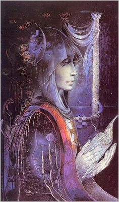 Bring the Priestess out of the Shadows and into the light - Chrysalis woman