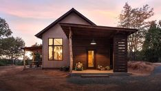 An energy-efficient home mines inspiration from a gold rush town in the California foothills. - Luke Hopping's Don't Let Its Rustic Charm Fool You, This Net-Zero Home Plays for Team Modern design collection on Dwell. Little Big House, Energy Efficient Homes, 6 Photos, Rustic Charm, Beams, Building A House, Gazebo, Modern Design, Outdoor Structures