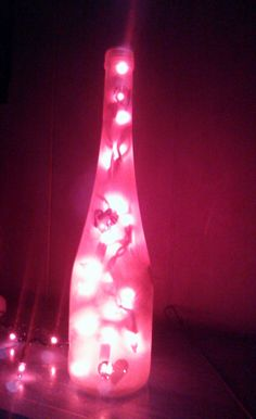 Wine Bottle Luminary With Hearts and Red Lights Pink Love, Pretty In Pink, Red Lights, Pink Gifts, Wine Bottles, Gift Basket, Display Ideas, Favorite Color, Iphone Wallpaper