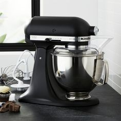 Get free shipping on food mixers from Crate and Barrel. Browse hand mixers, stand mixers and mixer attachments from top name brands. Order online.