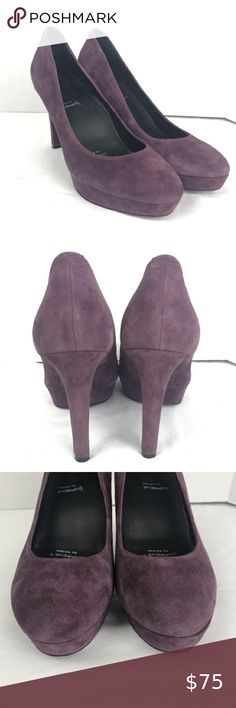 Rockport Janae Purple Suede Platform Heels Sz 10 Rockport Janae Purple Suede Platform Heels  Sz 10 K58889 Adiprene by Adidas insole Comfort Shoe  Excellent preowned condition  4.25 inch heel 1 inch platform Rockport Shoes Platforms