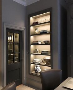 Super Ideas For Kitchen Decor Elegant Open Shelving Kitchen Wall Units, Kitchen Wall Cabinets, Kitchen Decor, Kitchen Shelves, Home Office Design, Home Interior Design, Interior Decorating, House Design, Decorating Tips