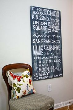 How To: Personalize Subway Art  | from Living Savvy