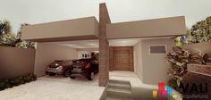 Navegue por fotos de Casas modernas bege: Fachada. Veja fotos com as melhores ideias e inspirações para criar uma casa perfeita.