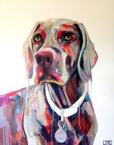 Tilda the Weimaraner by Jac Clark Abstract Animals, Artist Profile, Buy Art Online, Weimaraner, Pet Portraits, Dog Life, Princess Zelda, Dogs, Fictional Characters