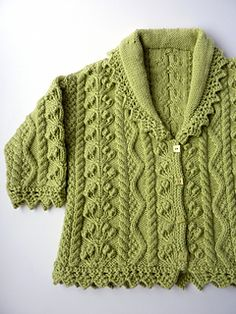 Knitting Patterns Sweter Ravelry: Lace Edged Cardigan pattern by Debbie Bliss Baby Cardigan, Cardigan Pattern, Knit Baby Sweaters, Knitted Baby Clothes, Baby Knits, Baby Patterns, Knit Patterns, Baby Knitting Patterns Free Cardigan, Knitting For Kids