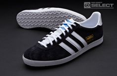 adidas originals Shoes - adidas originals Gazelle OG - Terrace - Mens Trainers - Black - White - Metallic Gold