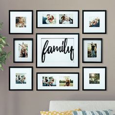Wall Collage Living Room Couch Photo Arrangement Ideas For 2019 Family Pictures On Wall, Family Wall, Collage Pictures, Collage Photo, Wall Decor Pictures, Family Photos, Picture Wall, Photo Wall, Photowall Ideas