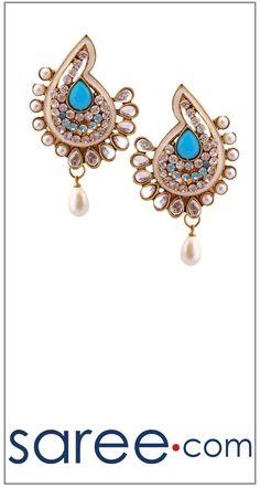 SEA GREEN FANCY EARRING  #Jewelry #accessories #Earrings #Earringsoftheday #necklace #necklaceoftheday #necklaceset #jewelleryset #jewellerydesign #jewelleryonline #buyonline #jewellery