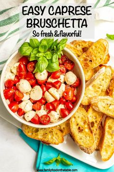 Easy Caprese bruschetta with fresh tomatoes and basil, marinated mozzarella balls and crusty, toasted baguette slices is the perfect summer appetizer! Broccoli Soup Recipes, Cream Of Broccoli Soup, Smoke Sausage And Potatoes, Easy Skillet Meals, Roasted Cherry Tomatoes, Summer Tomato, Vegan Kitchen, Yummy Appetizers, Bruschetta